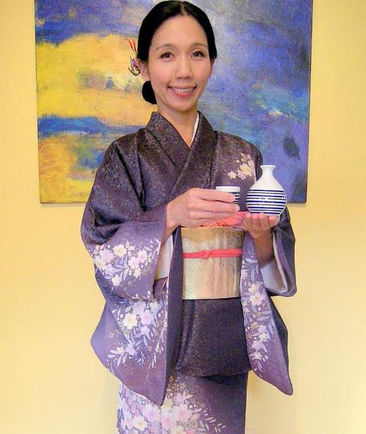 roger kuniko kimono mauve