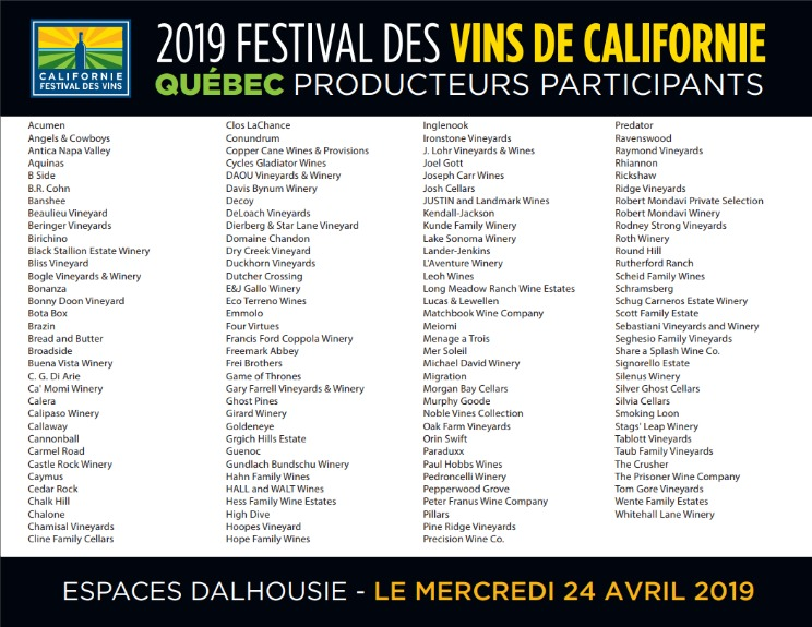 vins californie2019 quebec