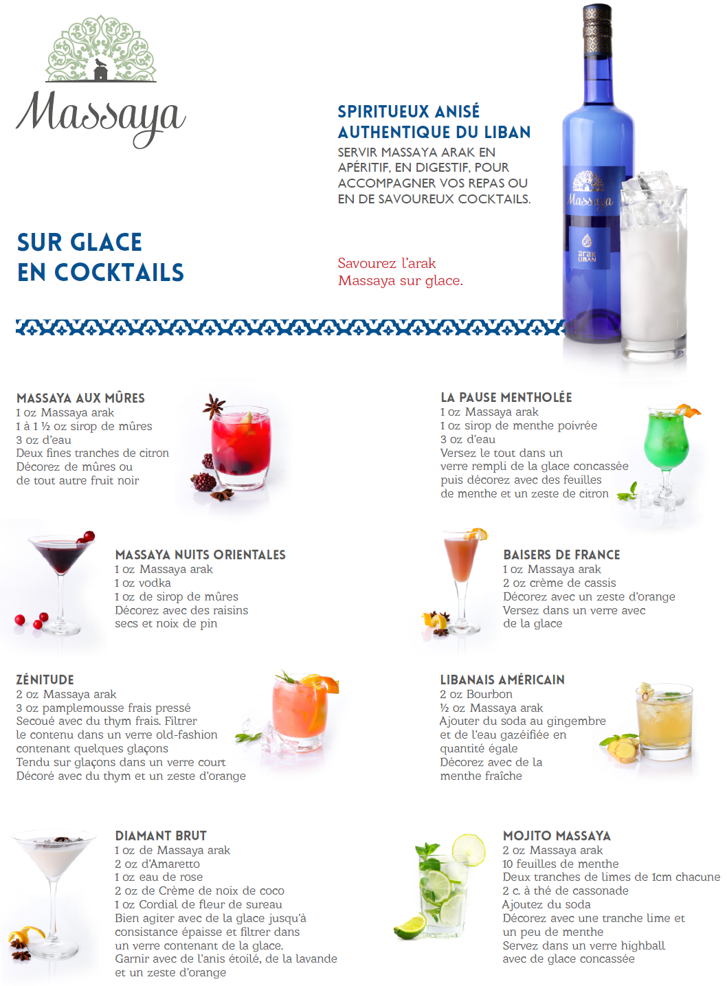 vins massaya cocktails