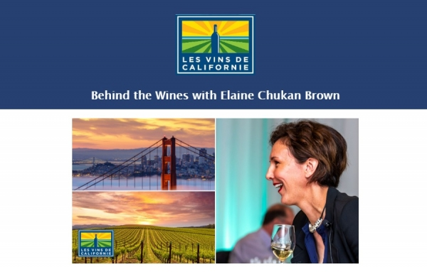 "Californie - Série de 4 webinaires ""Behind the Wines with Elaine Chukan Brown"""
